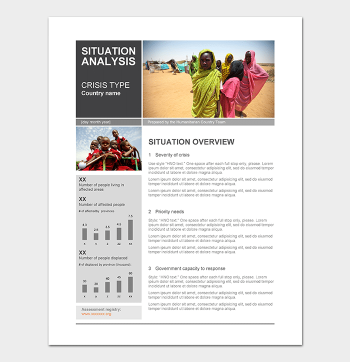 Situation Analysis Template WORD