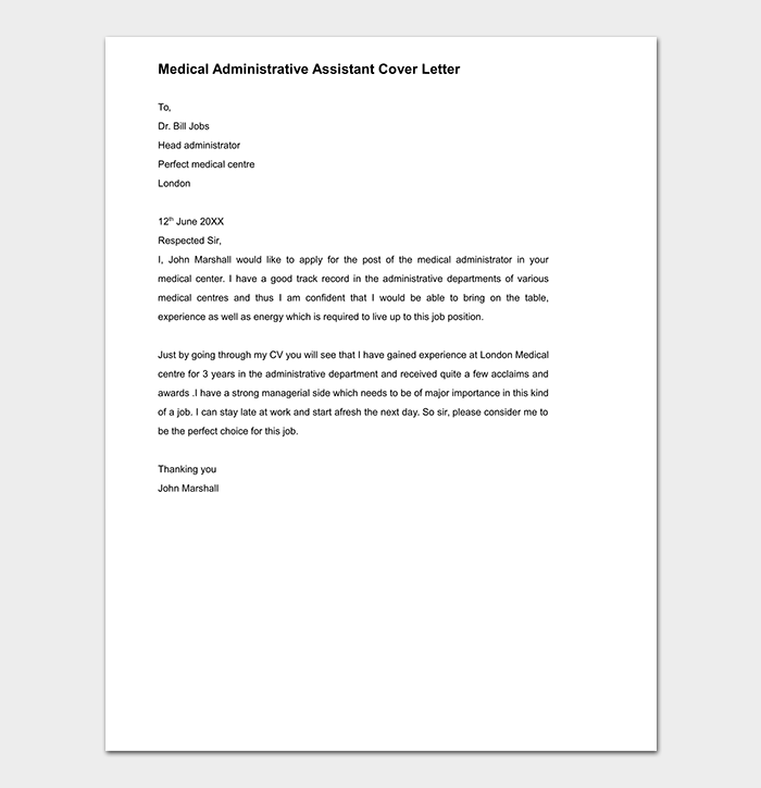 Cover Letter Template - 60+ (for Word, PDF Format)
