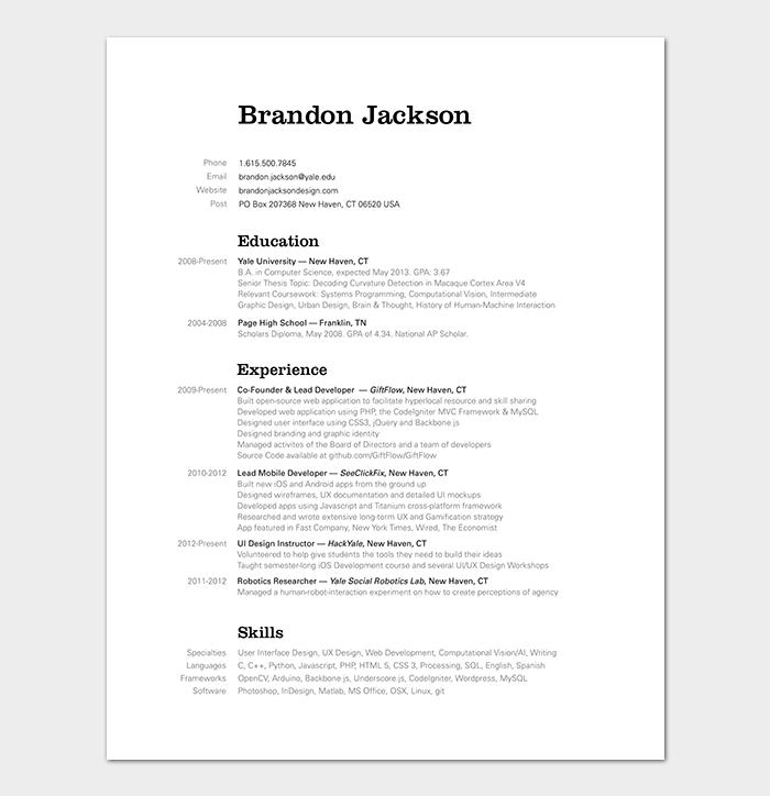 android developer resume - User Interface Developer Resume
