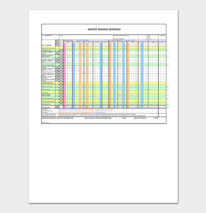 Training Plan Template 26 Free Plans Schedules