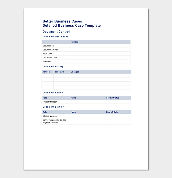better business case template