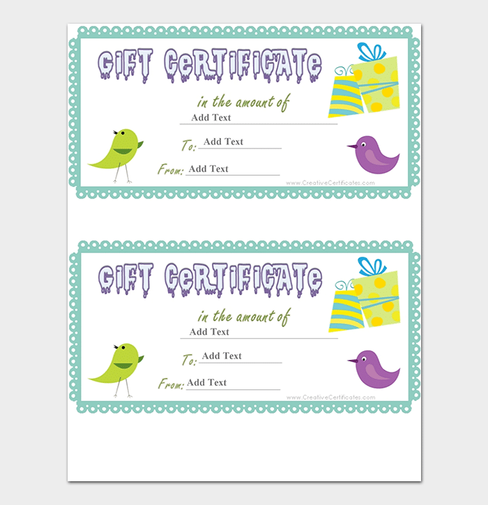 44 free printable gift certificate templates for word pdf for Gift certificate template word