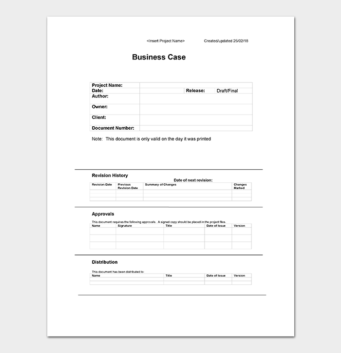 Business case template 9 simple formats for word excel pdf business case template wajeb Gallery