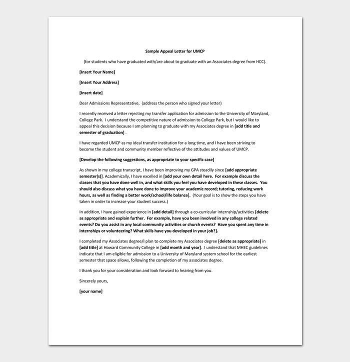 College Transfer Application Rejection