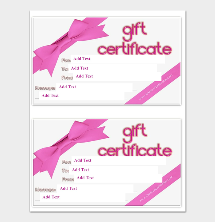 44+ Free Printable Gift Certificate Templates (for Word & PDF