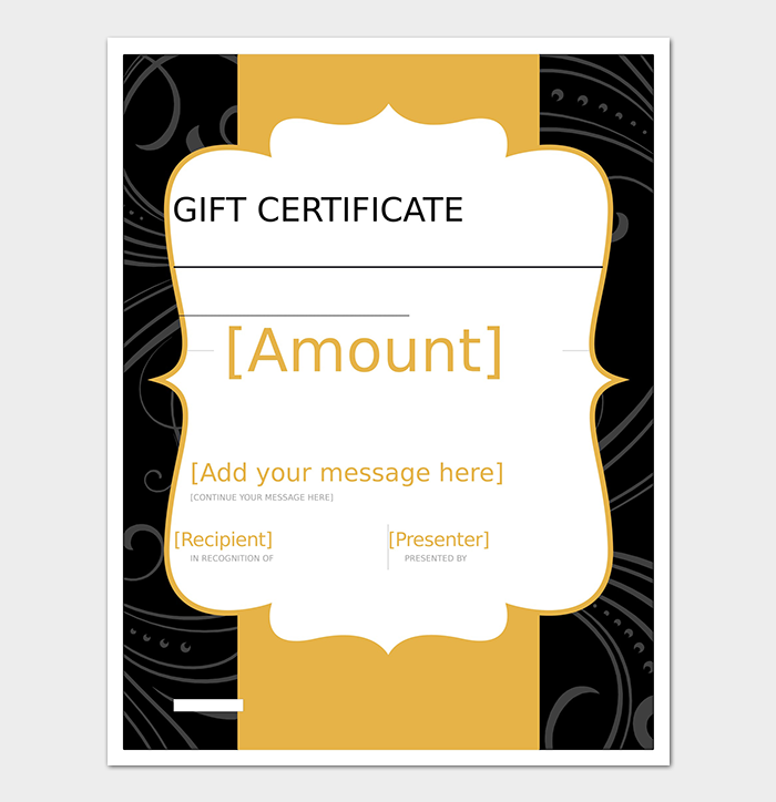 Decent Gift Certificate Template