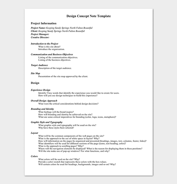 Project Design Concept Note Template