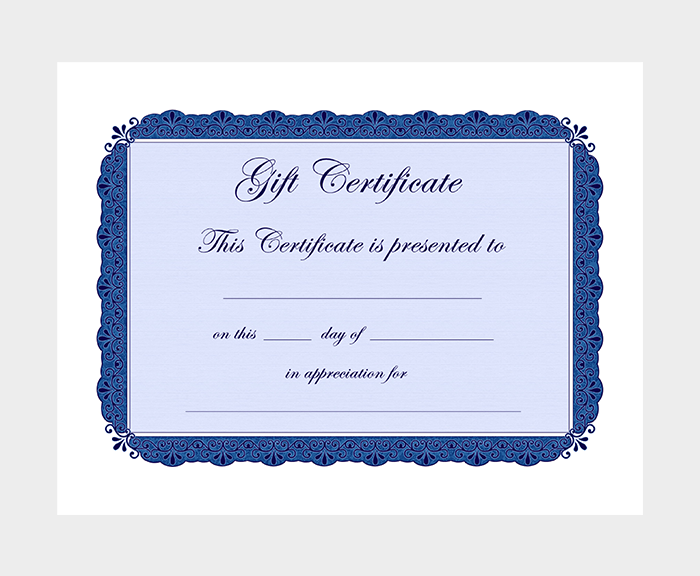 Free Printable Gift Certificate Templates For Word PDF - Downloadable gift certificate template
