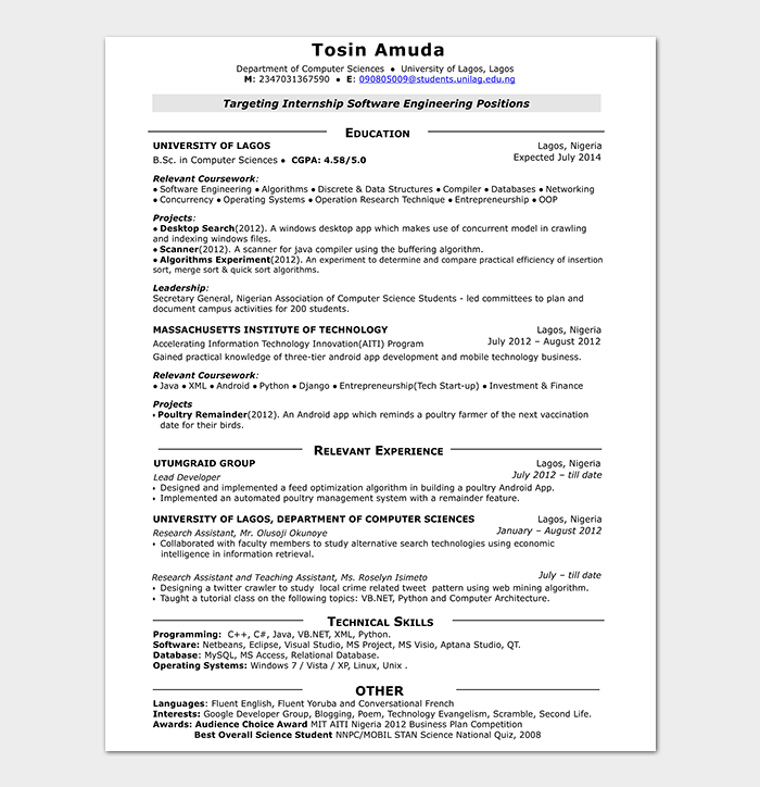 Android Developer Resume Template 21 For Senior Junior
