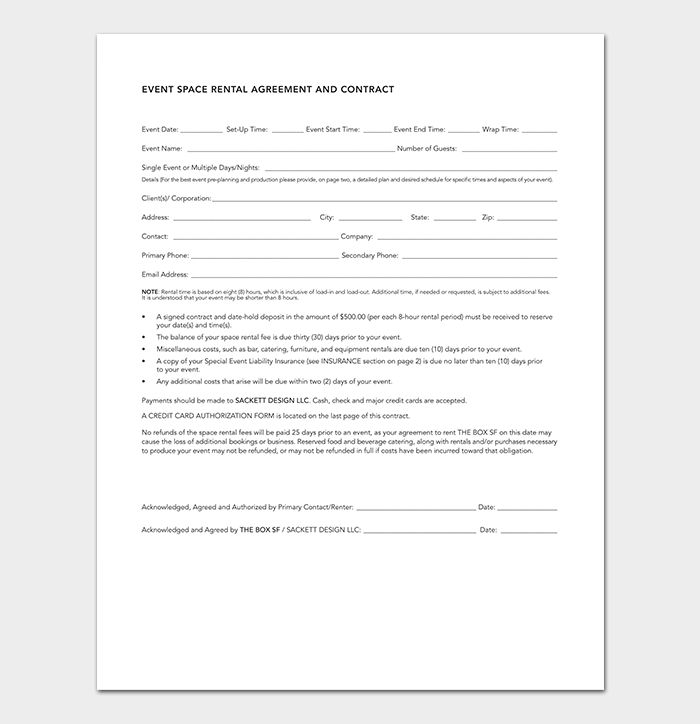 Event Planning Contract Template  Event Planner Contract Example
