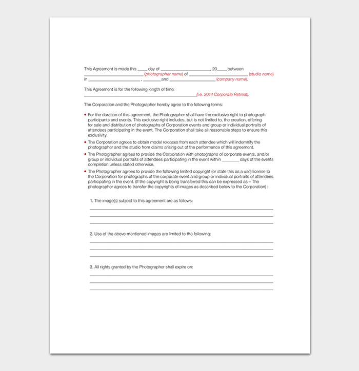 Event Sales Contract Template
