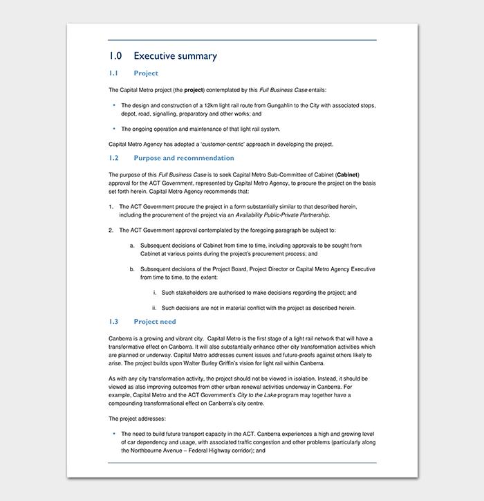 Full Business Case PDF Template