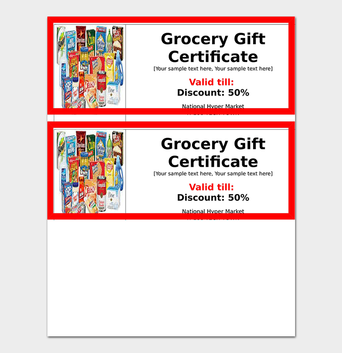 44+ Free Printable Gift Certificate Templates (for Word & PDF)