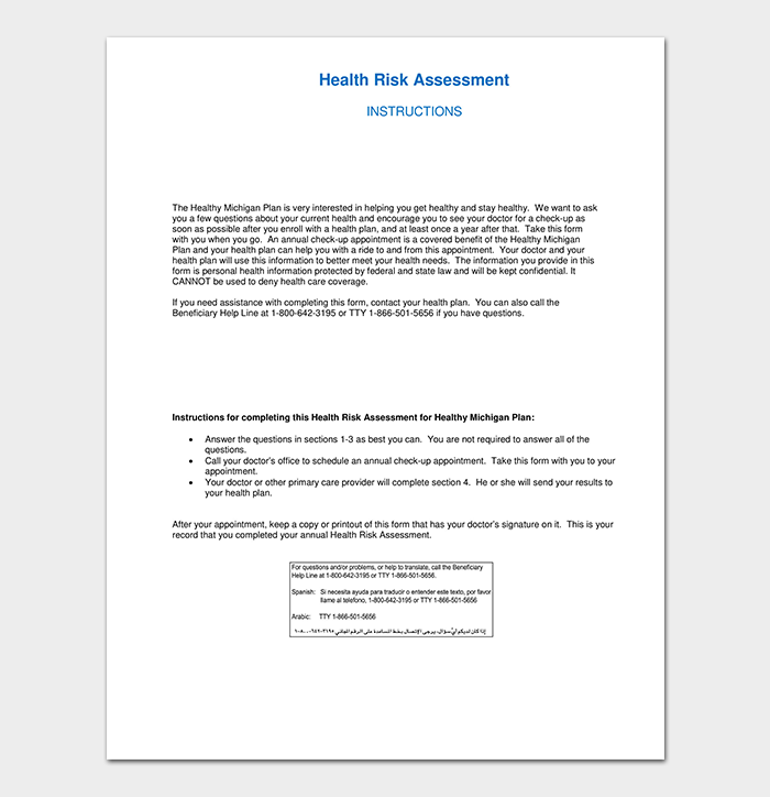 Health Care Risk Assessment