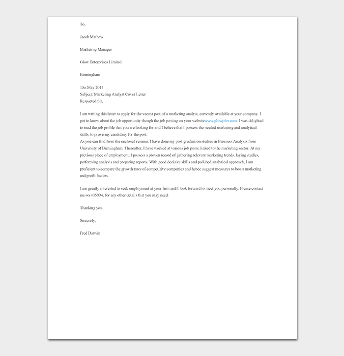 Entry Level Market Research Analyst Cover Letter from images.docformats.com