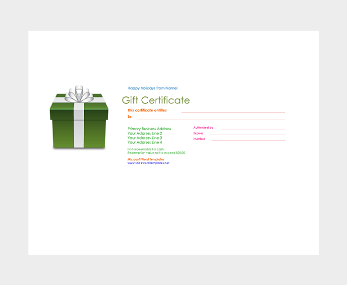 Loved Ones Gift Certificate