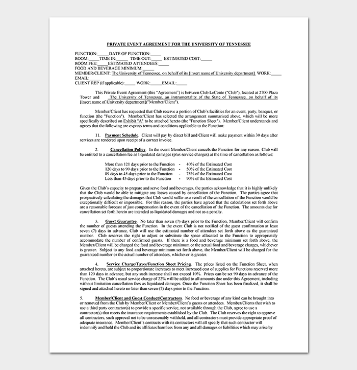 event contract template 19 samples examples in word pdf format