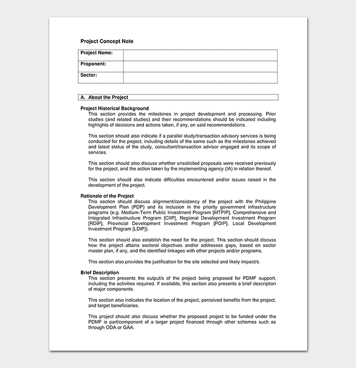 Concept Note Template - 22+ For (Word & PDF Format)