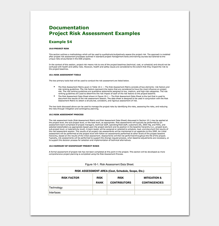 Project Risk Assessment Template PDF