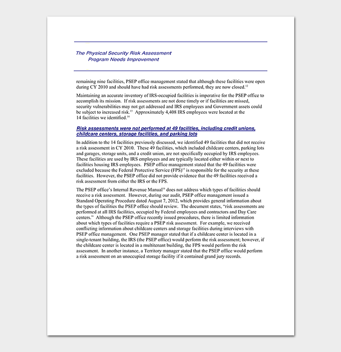 Security Assessment Template: 18+ (Word, Excel & PDF Format