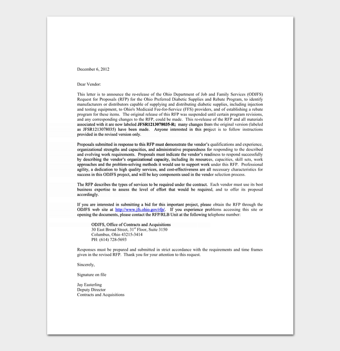 Bid Rejection Letter 10 Samples Amp Examples