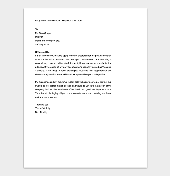 Cover Letter Template 60 For Word Pdf Format