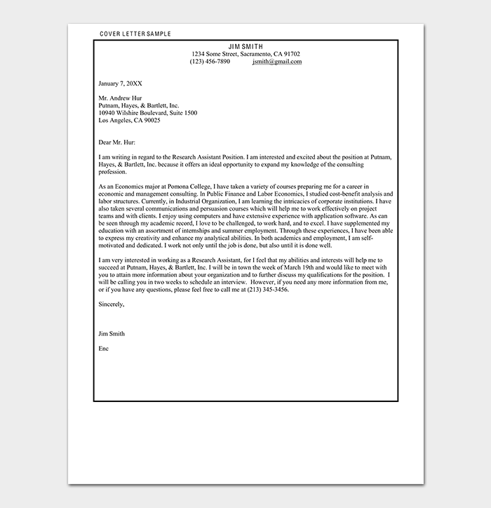 Simple Consulting Cover Letter