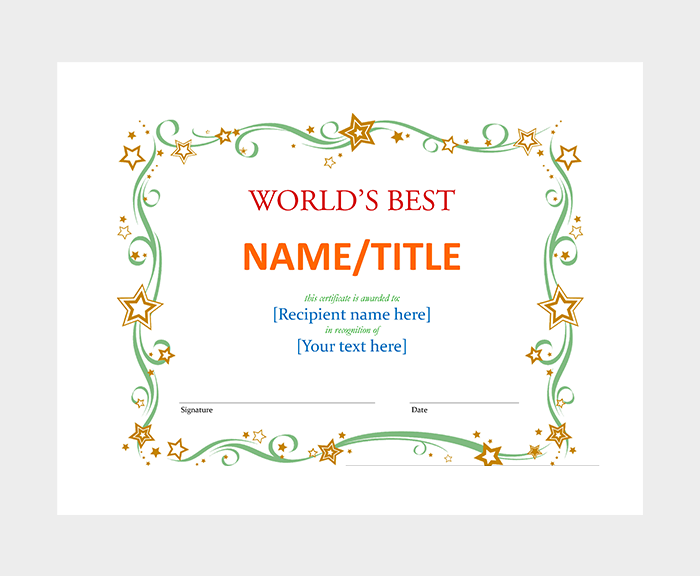 Simple Gift Certificate Word