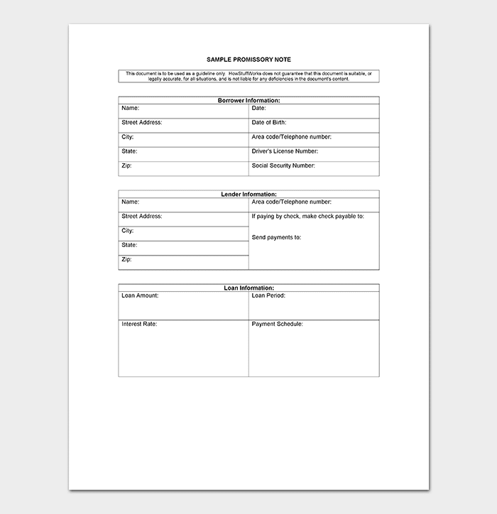 promissory note template 20 free for word pdf. Black Bedroom Furniture Sets. Home Design Ideas