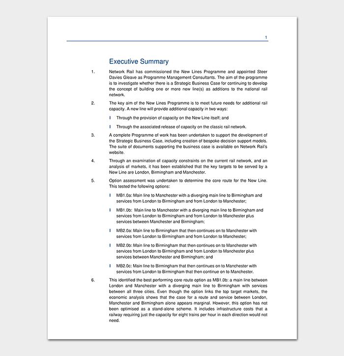 Strategic Business Case Template