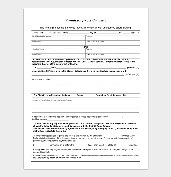 Promissory Note Template Free For Word PDF - Corporate promissory note template