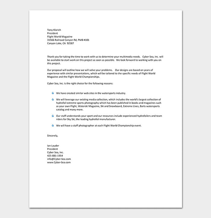 Business Letter Template PDF