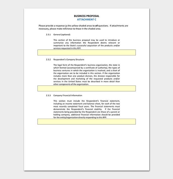 Business Proposal Contract