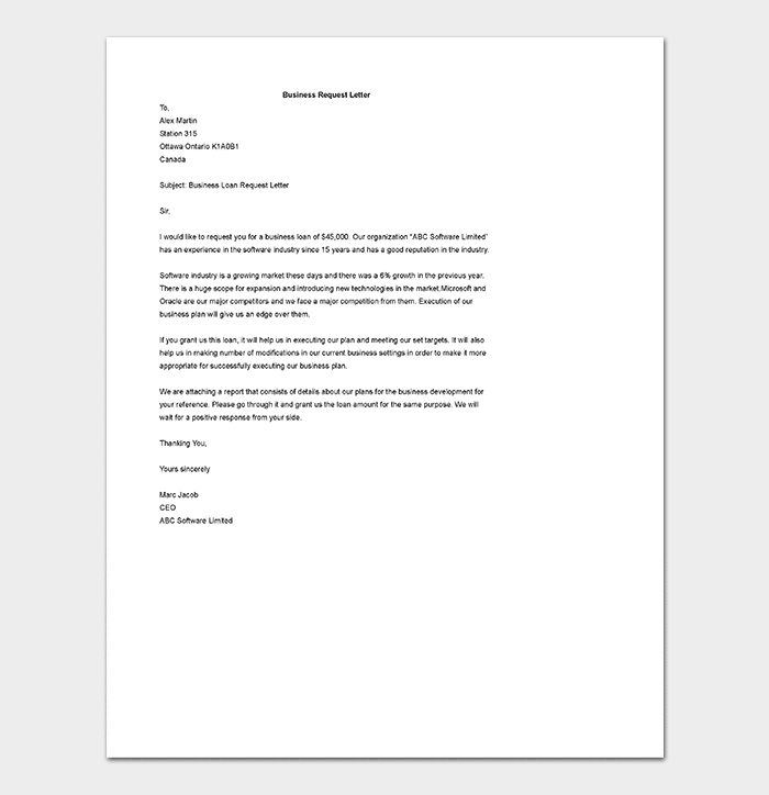 Business letter template 21 samples examples business request letter template cheaphphosting Image collections