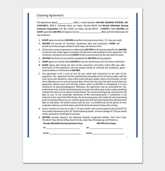 Proposal Contract Template - 20+ Forms (in Word, PDF)