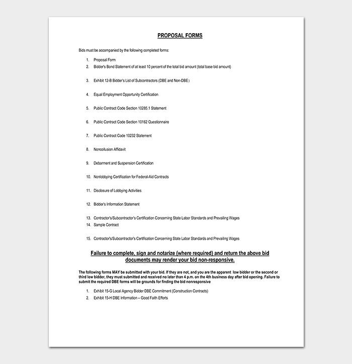 Construction Proposal Contract PDF