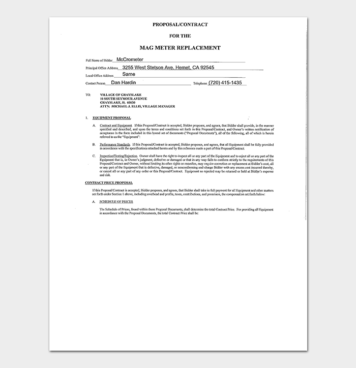 General Proposal Contract