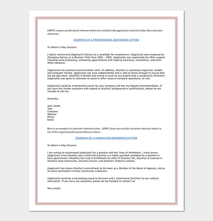 Reference letter template 28 examples samples professional reference letter template expocarfo Images