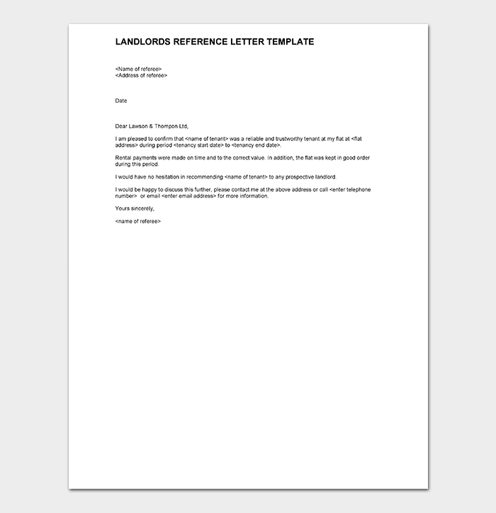 Reference Letter Template DOC