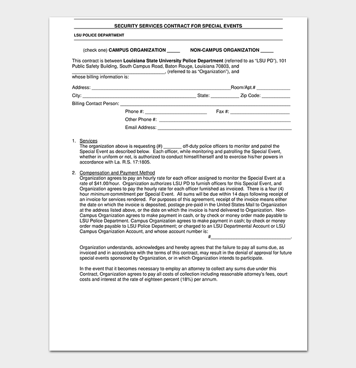 Security Proposal Contract