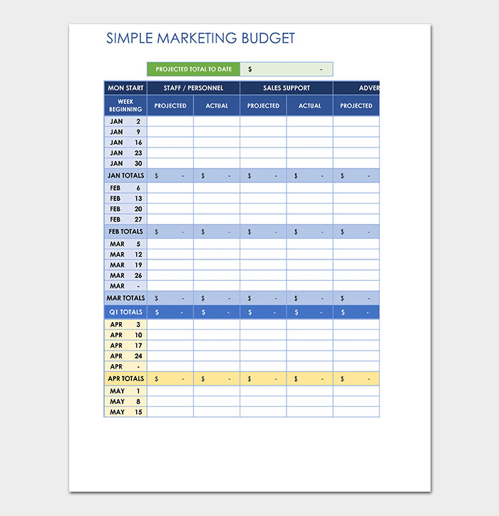 Marketing Budget Template | 20 Marketing Budget Templates For Excel Pdf Budget Smart