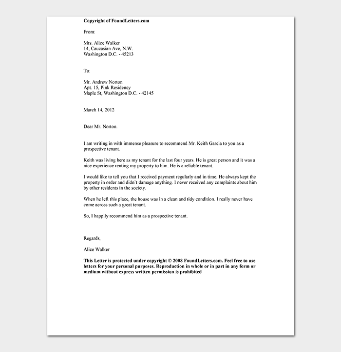 Reference letter template 28 examples samples tenant reference letter expocarfo Choice Image
