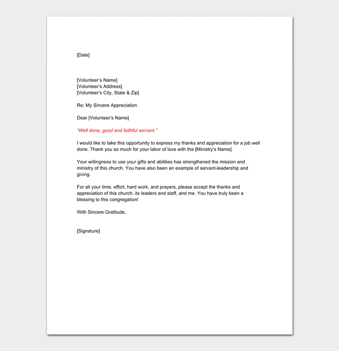 Volunteer Reference Letter Samples Amp Examples