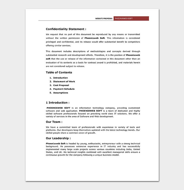 Website Proposal Contract