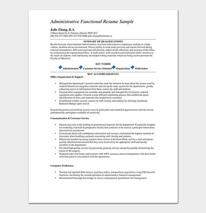 Administrative Medical Assistant Resume