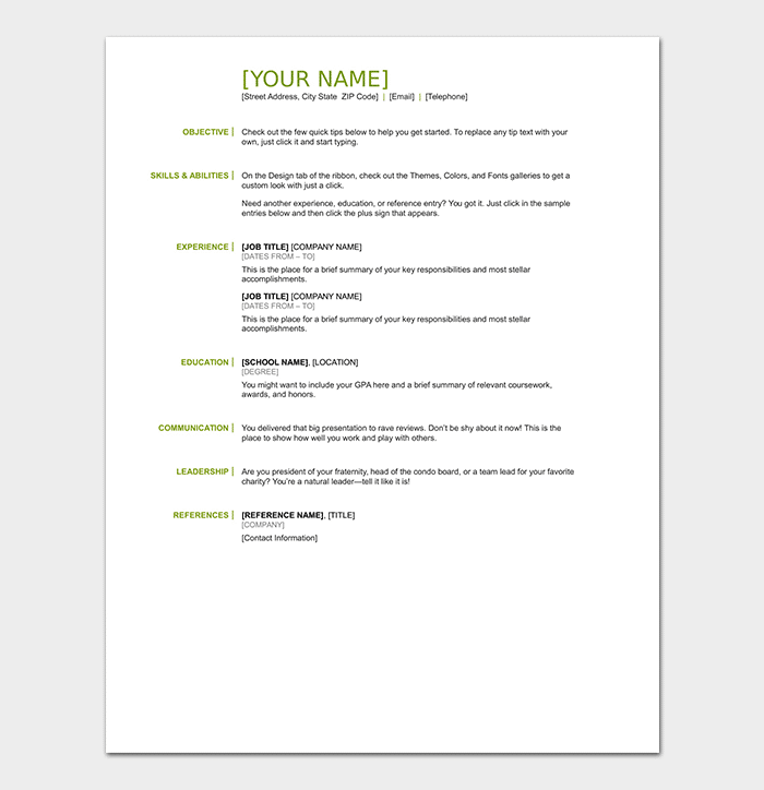 Resume Objectives 35 Statements Samples Amp Examples