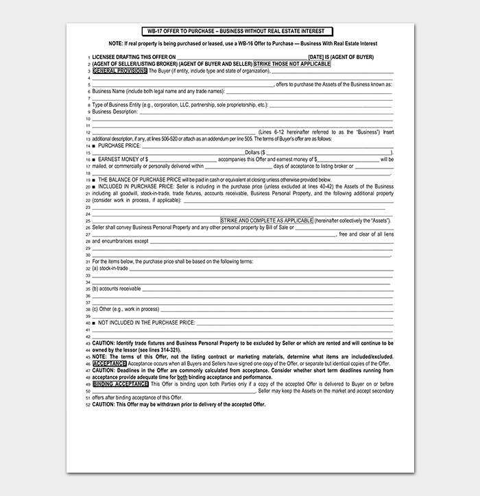 Real Estate Offer Rejection Letter