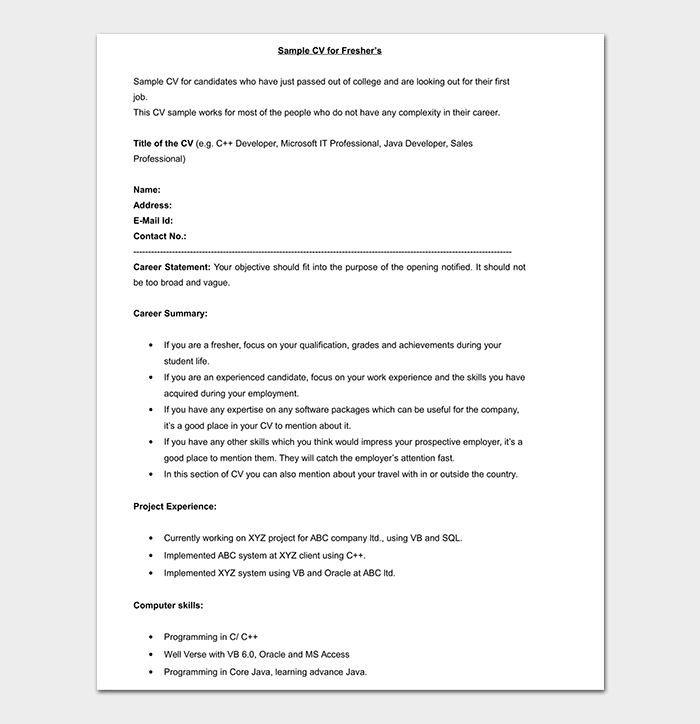 Bpo Resume Template 15 Samples Amp Formats