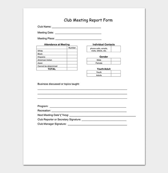 Club Meeting Note