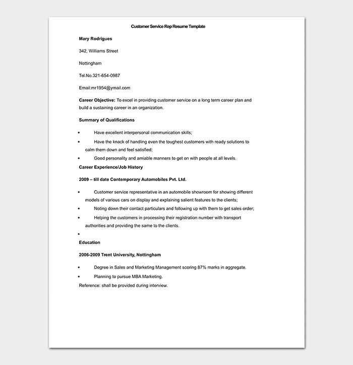 BPO Resume Template - 15+ Samples & Formats